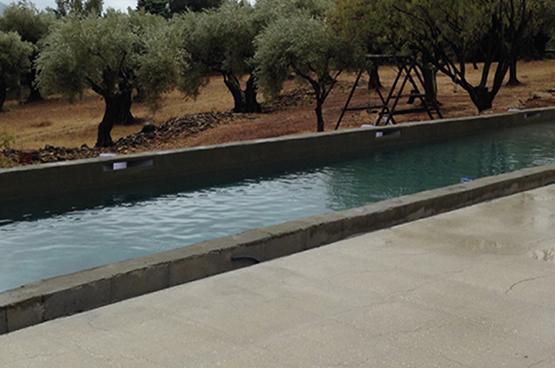 Le béton, une solution pensée  pour les fonds de piscine